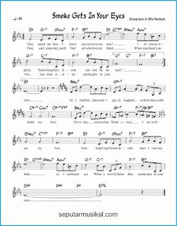 chord smoke gets in your eyes lagu jazz standar