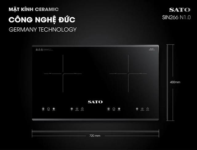 Bếp từ đôi Sato SIH266 N1.0