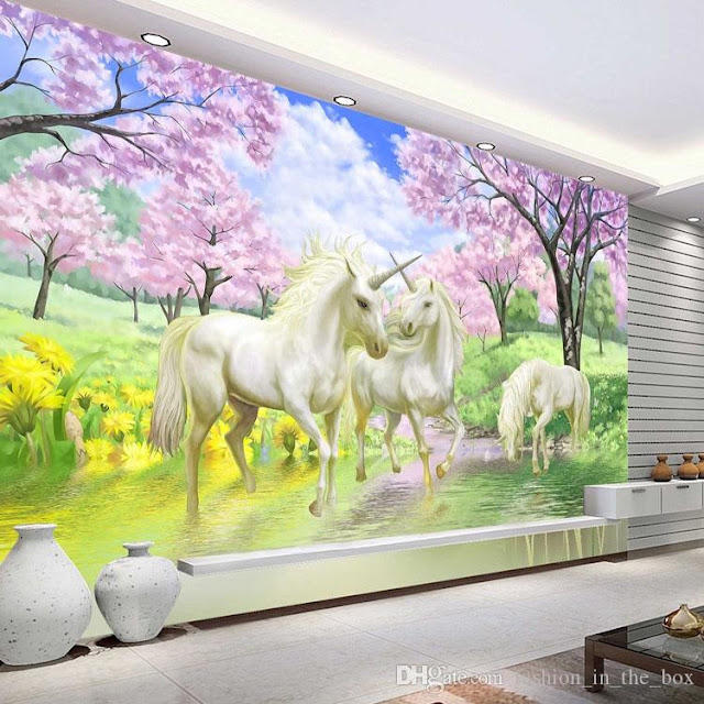 Unicorn Wall Mural Girl room
