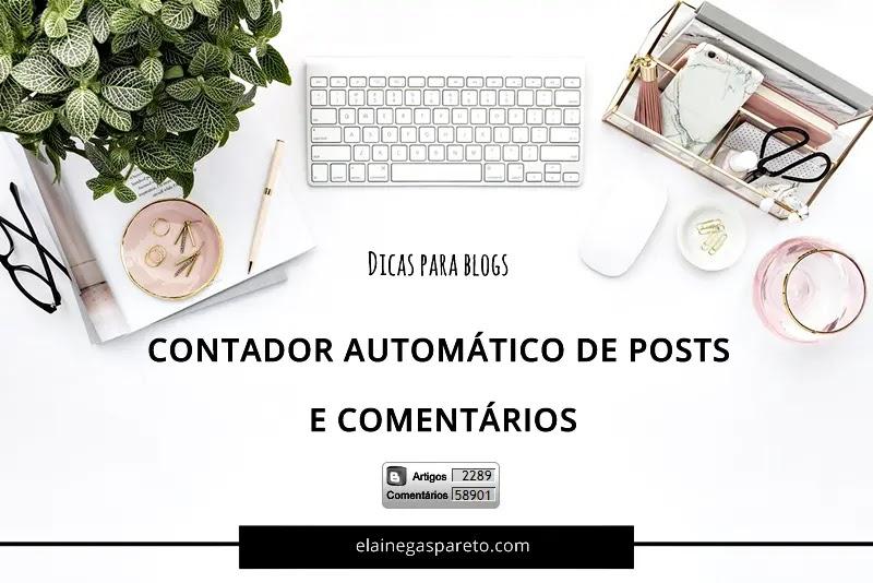 Contador automático de posts e comentários para Blogger
