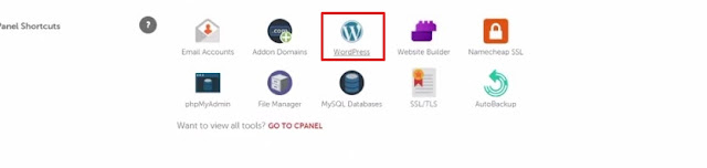 install wordpress on namecheap from cpanel