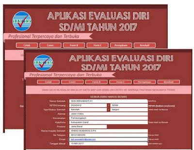 Download Aplikasi Evaluasi Diri Sekolah (EDS) Untuk SD/MI Tahun Pelajaran 2017/2018