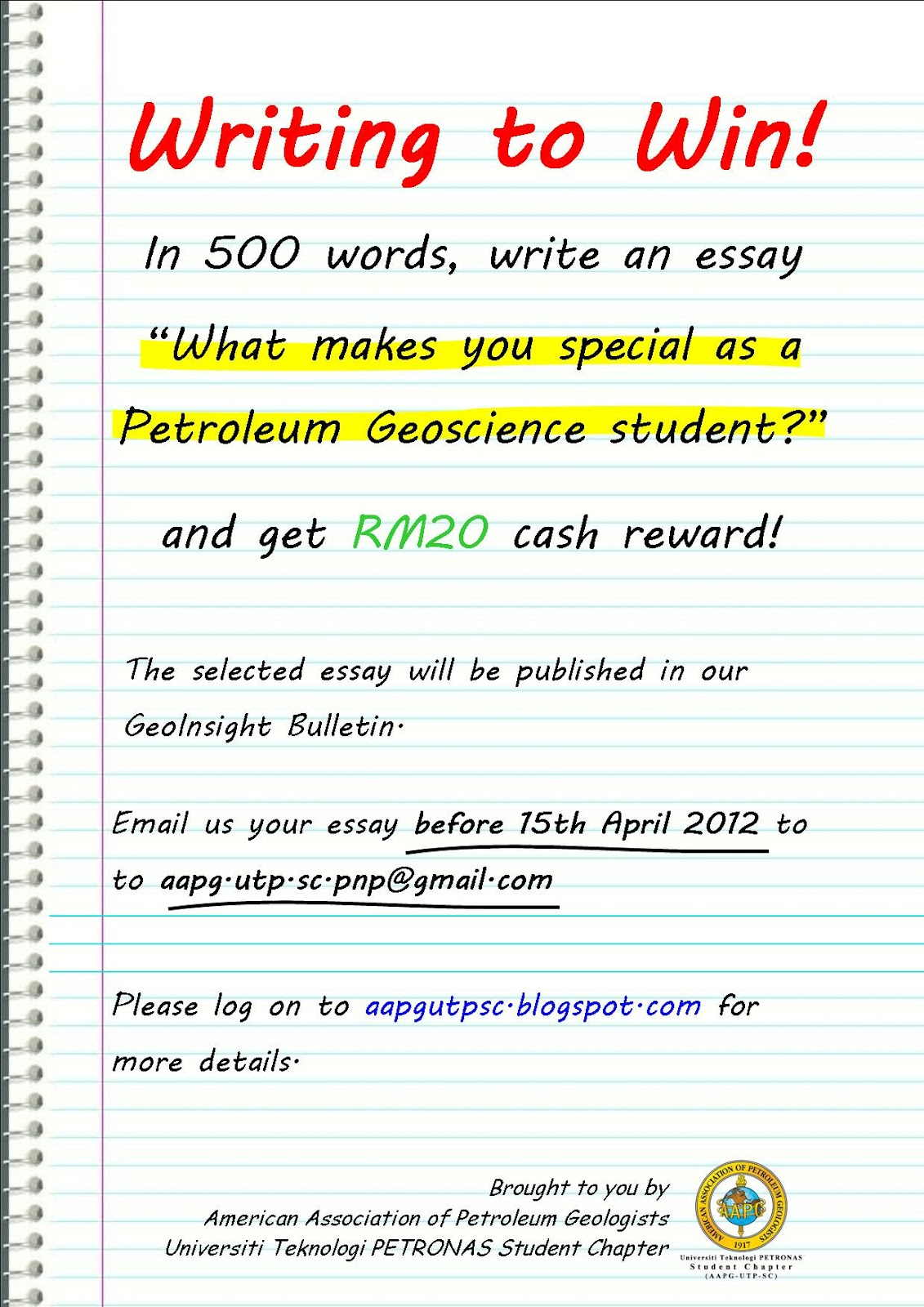Essay writing website contest guidelines