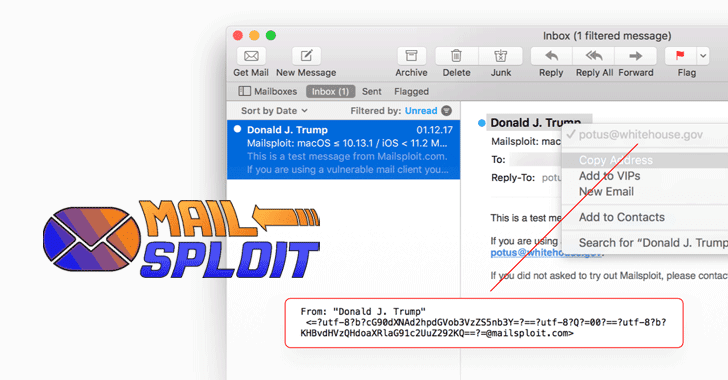 MailSploit — Email Spoofing Flaw Affects Over 30 Popular Email Clients