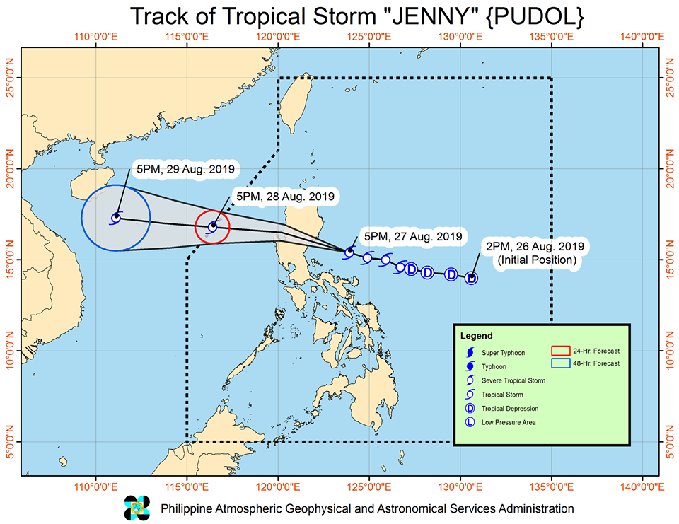 'Bagyong Jenny' is expected to exit the Philippine Area of Responsibility (PAR) on Wednesday afternoon