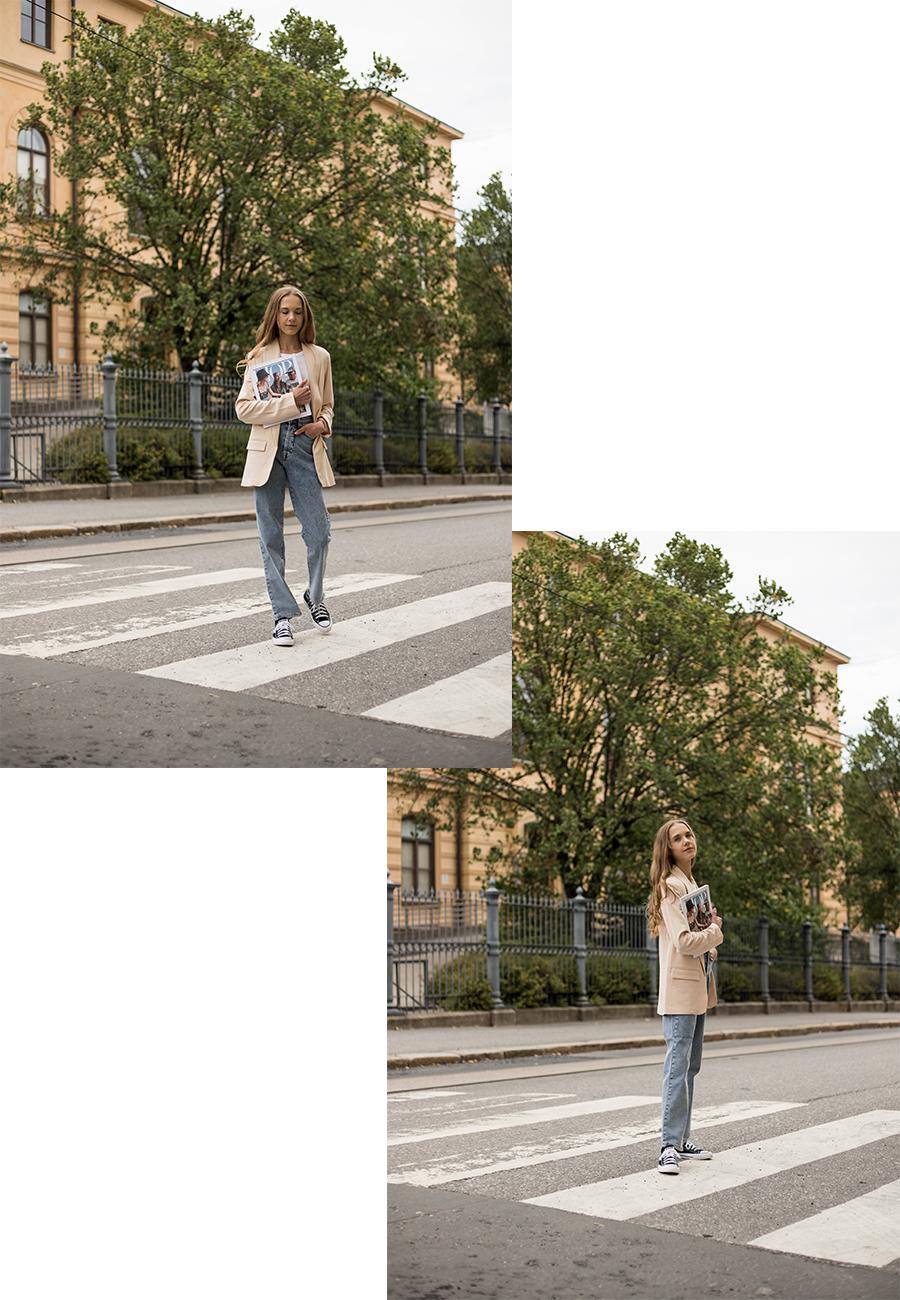 Syysmuoti: farkut ja bleiseri // Autumn fashion: jeans and blazer