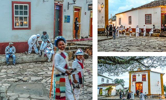 Festejo do Congado na Igreja do Rosário de Tiradentes