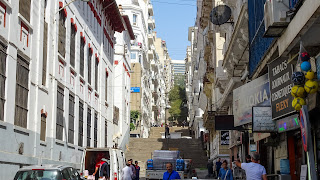 Lead up to the living areas of Algiers