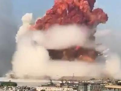 Ledakan Bak Bom Atom Hantam Ibu Kota Lebanon, Ternyata Ini Penyebabnya