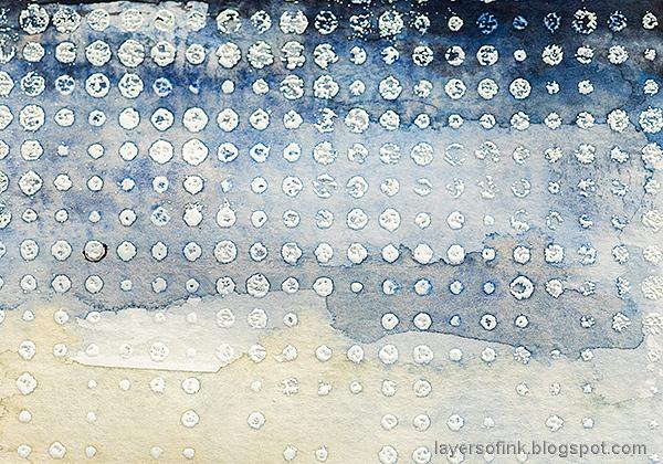 Layers of ink - Watercolor Snow Scene Tutorial by Anna-Karin Evaldsson. Embossed resist.
