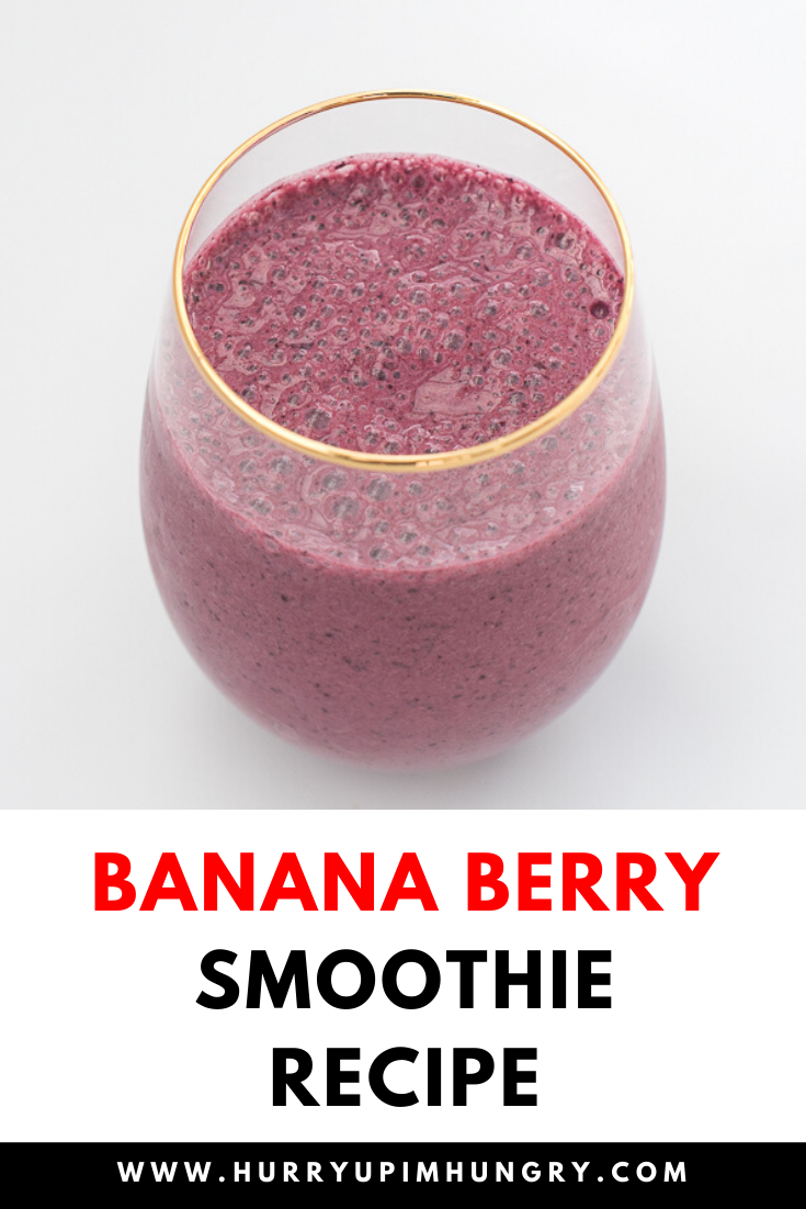 Looking for Saskatoon berry recipes? Try this Saskatoon berry banana smoothie instead of a banana blueberry smoothie.