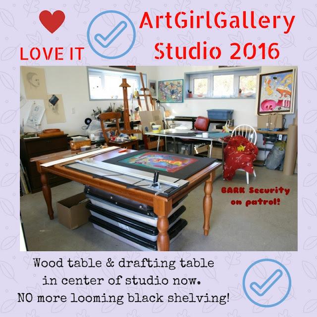 ArtGirlGallery art studio is organized NOW.