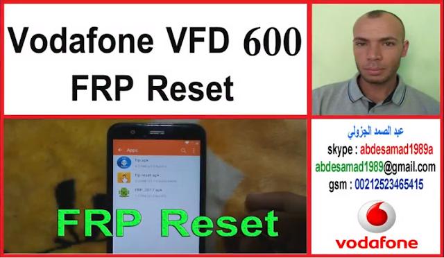 vodafone vfd 600 frp reset google account bypass - اندرويد