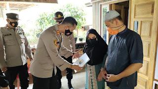 Berjiwa Sosial, Kapolres Enrekang Kunjungi Bapak Fachrul yang Mengalami Gangguan Penglihatan