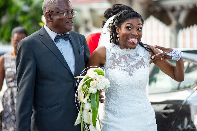 Mariée au bras de son père, Guadeloupe
