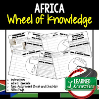 Africa Activity, World Geography Activity, World Geography Interactive Notebook, World Geography Wheel of Knowledge (Interactive Notebook)
