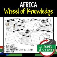 Africa Activity, World Geography Activity, World Geography Interactive Notebook, World Geography Wheel of Knowledge (Interactive Notebook)