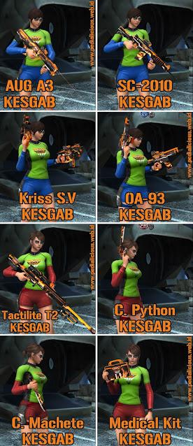 Preview Senjata Rules Seri KESGAB Point Blank Zepetto Indonesia