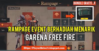 Hadiah Menarik Event Rampage 16/6 Garena Free Fire