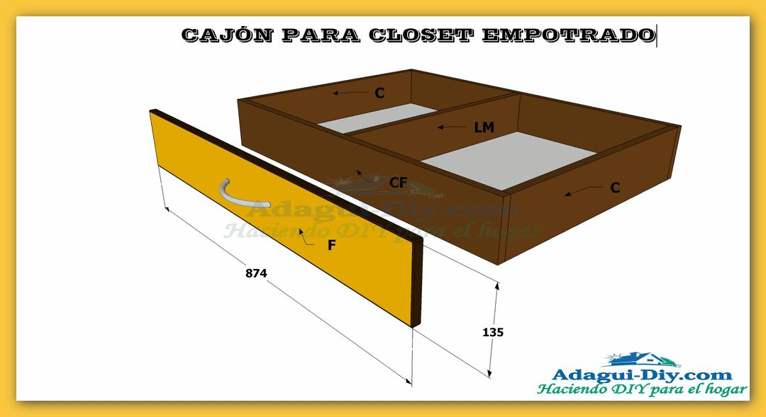 Plano como hacer cajones para closet empotrado de cocina for Como crear un plano