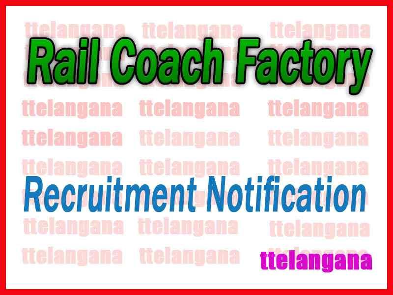 Rail Coach Factory RCF Kapurthala Recruitment