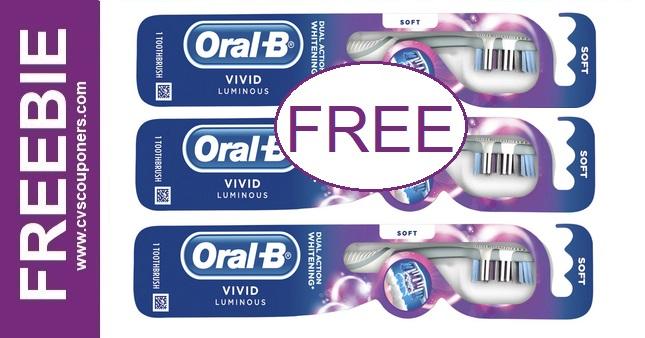 FREE Oral-B Vivid Luminous Toothbrushes at CVS 11-15-11-21