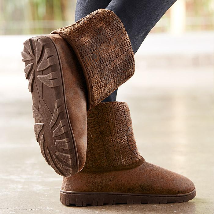 Memory Foam Cable-Knit Boot $29.99
