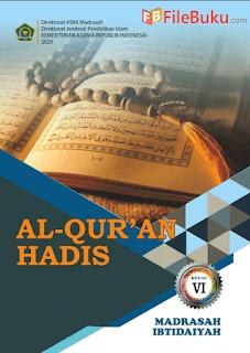 Buku Al-Quran Hadis Siswa MI Kelas 6-VI Kurikulum 2013 Revisi 2020