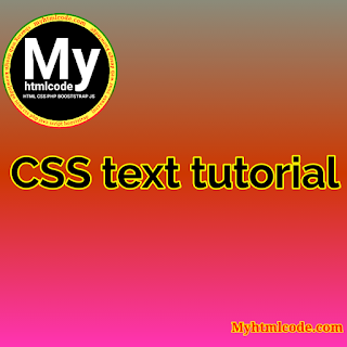 CSS text tutorial
