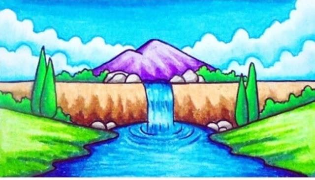 gambar gunung yang indah
