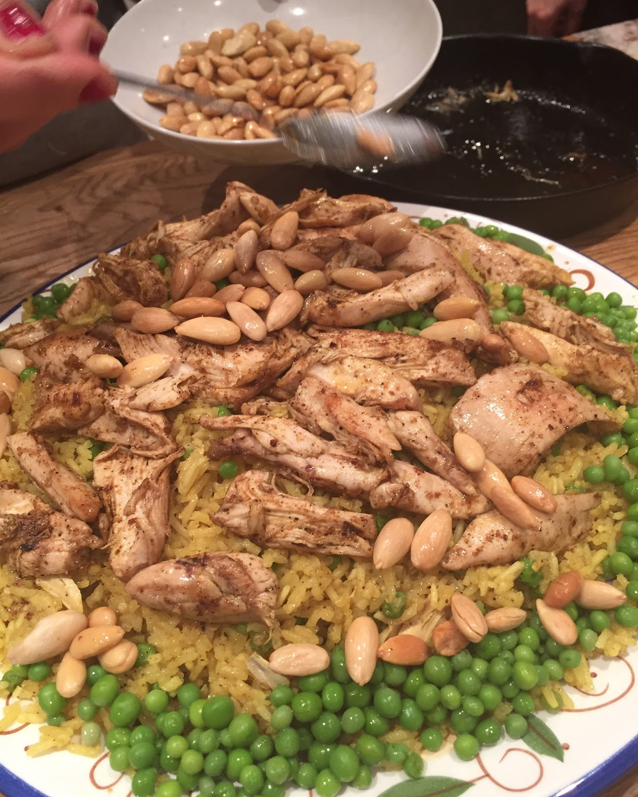 Here And There: Spicy Arabic Chicken, Ouzi