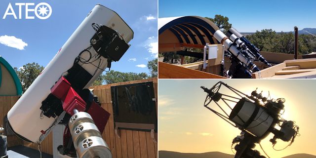 Astronomical Telescopes for Educational Outreach ATEO-1, ATEO-2A and ATEO-2B, and ATEO-3.