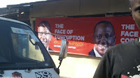 baner%2B3 - Banners of UHURU and RUTO calling them the real faces of corruption hanged across Nairobi as revolution beckons(PHOTOs).