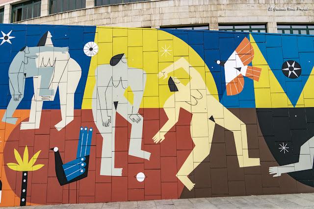 Mural (detalle) Supervivientes Violencia Machista, por Ruth Juan - Muelle de la Merced, Bilbao por El Guisante Verde Project