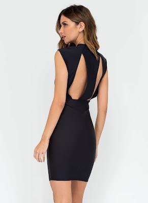 vestidos de noche cortos para flaquitas