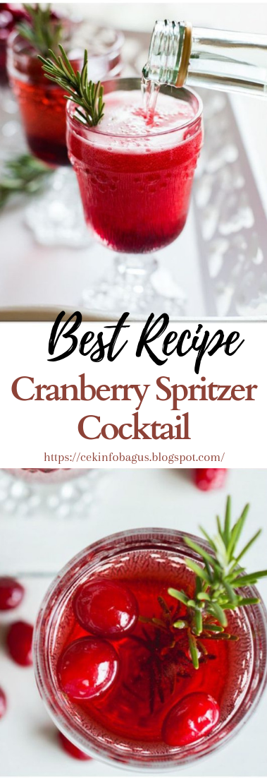 Cranberry Spritzer Cocktail #healthydrink #easyrecipe