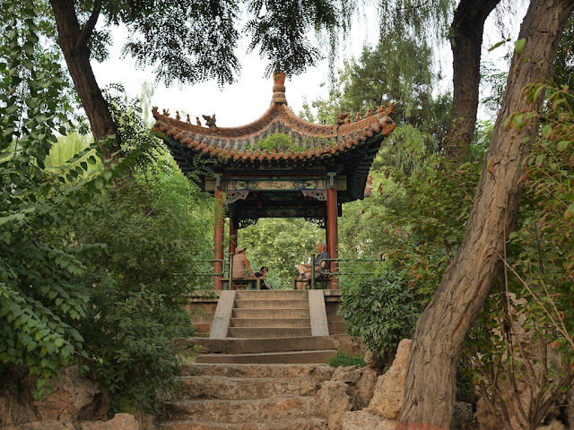 pavilion on hill at Wenying Park in Taiyuan