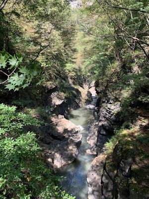 鹿飛橋からの景色