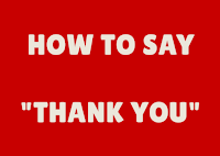 Ways to speak Thank You in English