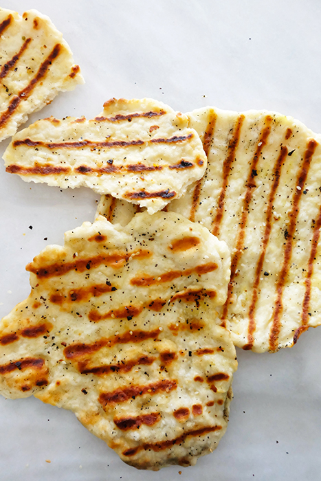 grilled flatbreads on counter