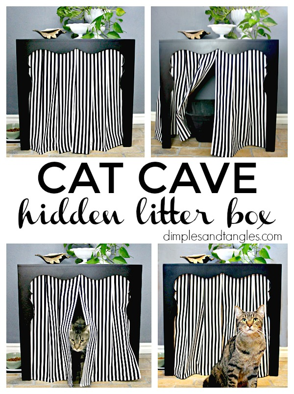 SIDE TABLE TO HIDDEN LITTER BOX (HOW TO HIDE THE LITTER ...
