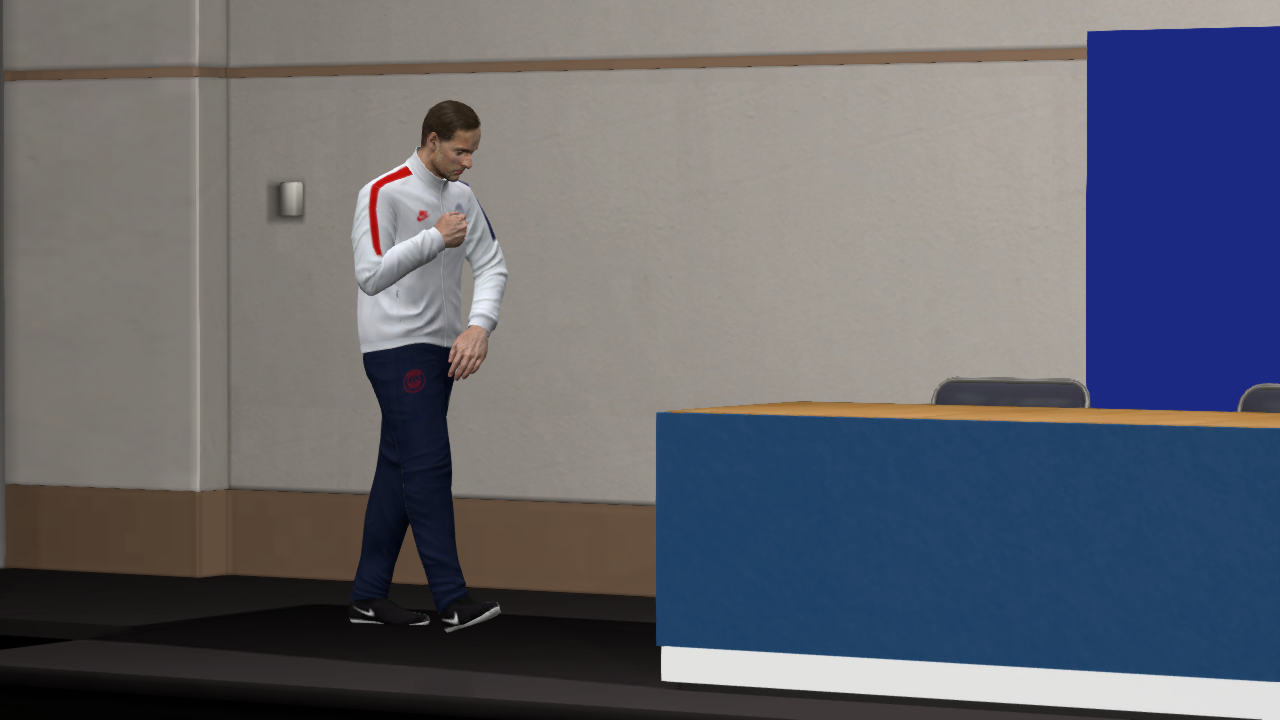 PSG Press Room & Manager Suits 2020 -- PES 2017