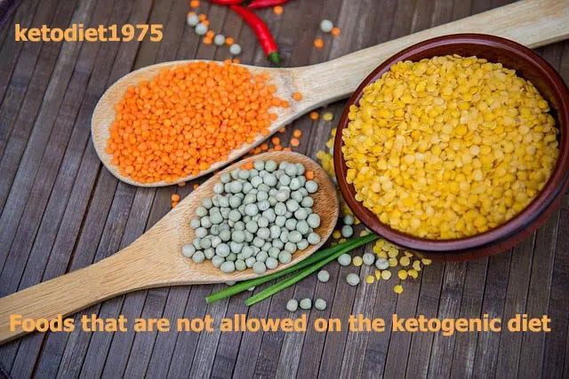 Foods that are not allowed on the ketogenic diet