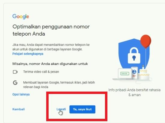 Masukan Data Diri Untuk Daftar Gmail 2