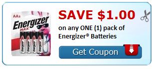 $1.00 on any ONE (1) pack of Energizer® Batteries