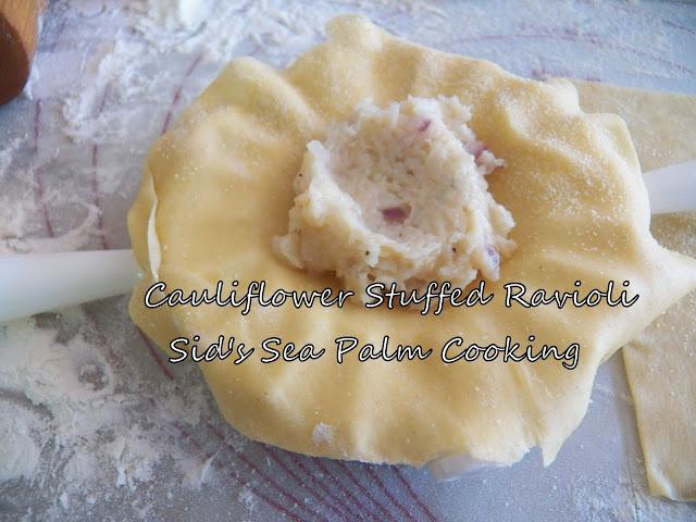 Cauliflower Stuffed Ravioli