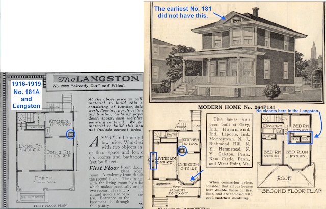 two very similar floorplans between Sears Whitehall and Langston models