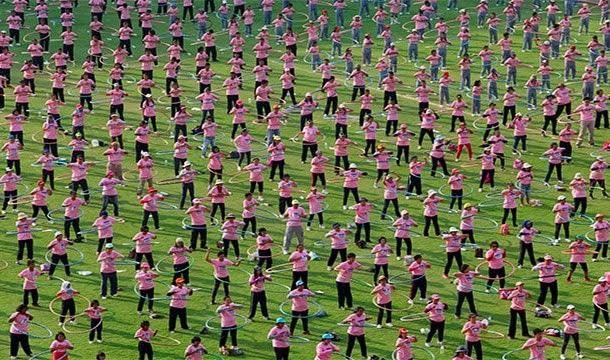 เล่นฮูล่าฮูปมากที่สุดในโลก