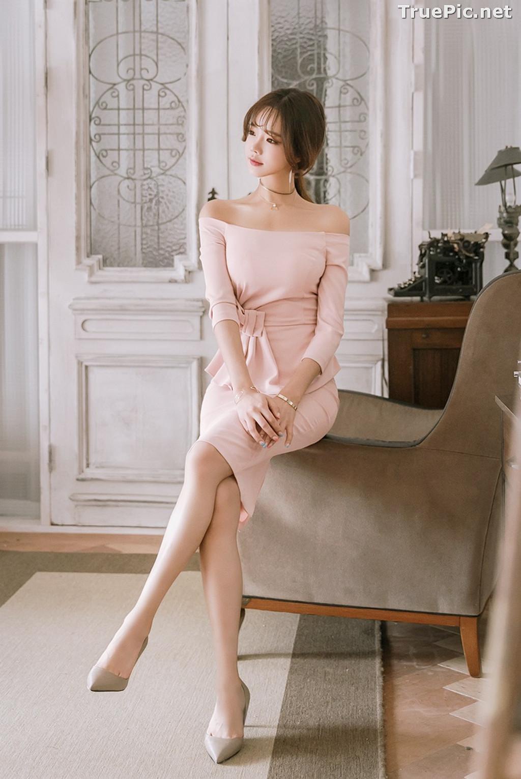 Image Korean Fashion Model - Kang Eun Wook - Slim Fit Bodycon Dress - TruePic.net - Picture-6