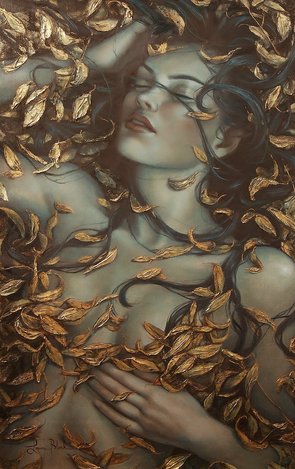 Figurative oil paintings of Lauri Blank #artpeople